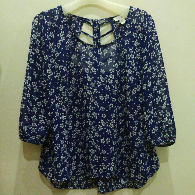 Floral Navy Top by Forever 21