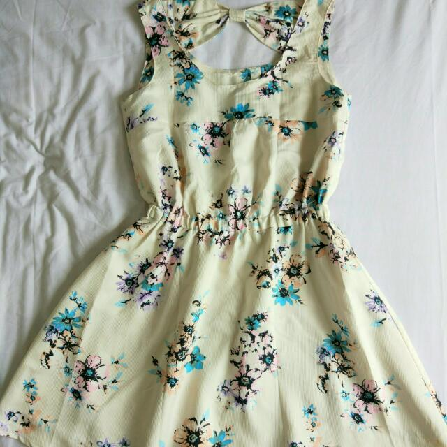 Flower Bow Back Dress
