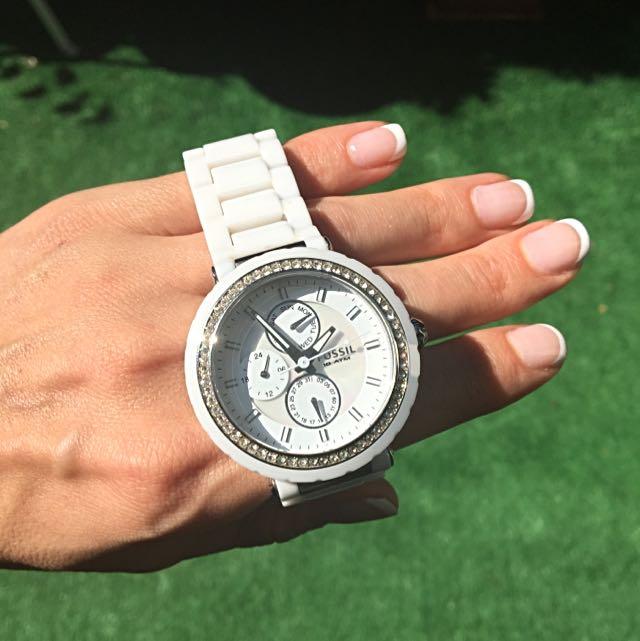 Fossil White Ceramic Watch