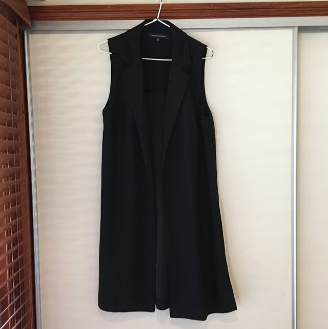 French Connection - Mid Length Vest Black