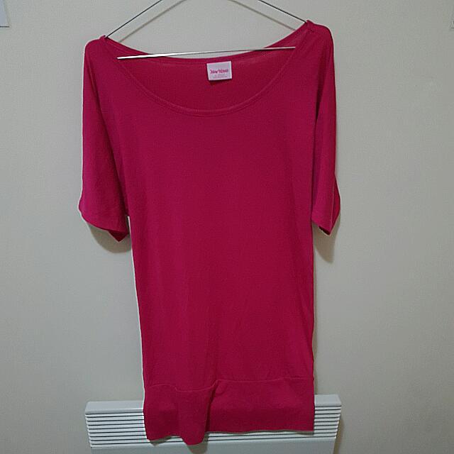 Fushia Shoulder Dress (New Wave) Size 8