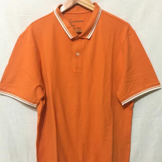 Giordano Polo Shirt Orange Size XXL Original 100%
