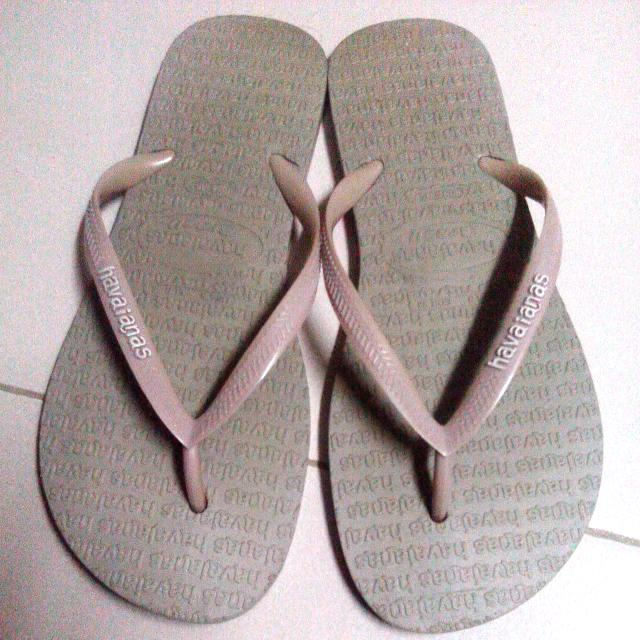 havaianas old rose slippers