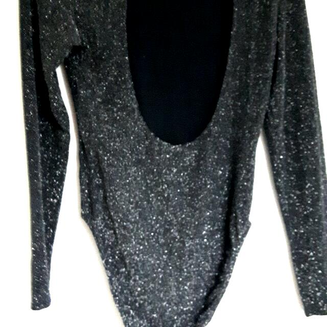 H&m Backless Sparkly Body Suit