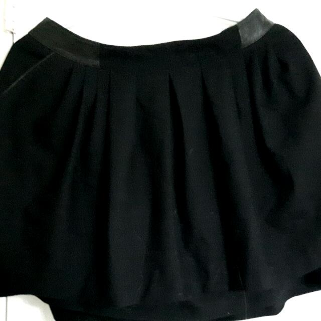 H&m Skirt With Leather