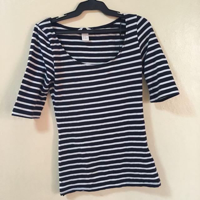 H&M Stripes Long Sleeves
