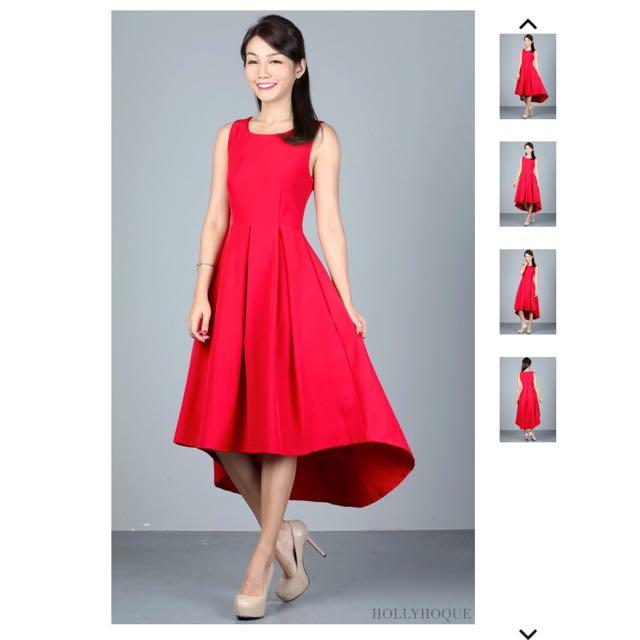 Hollyhoque Courtney Red Dress (size S)