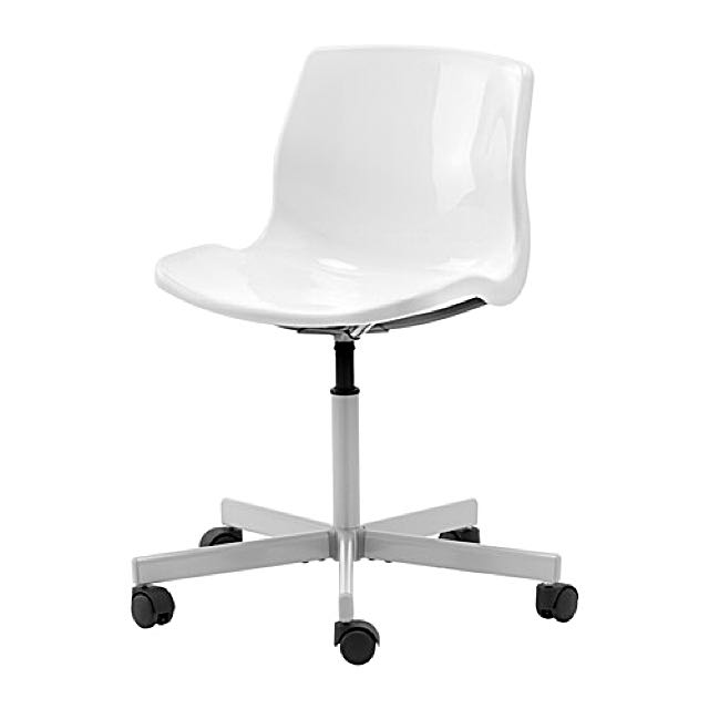 IKEA Snille White Swivel Chair