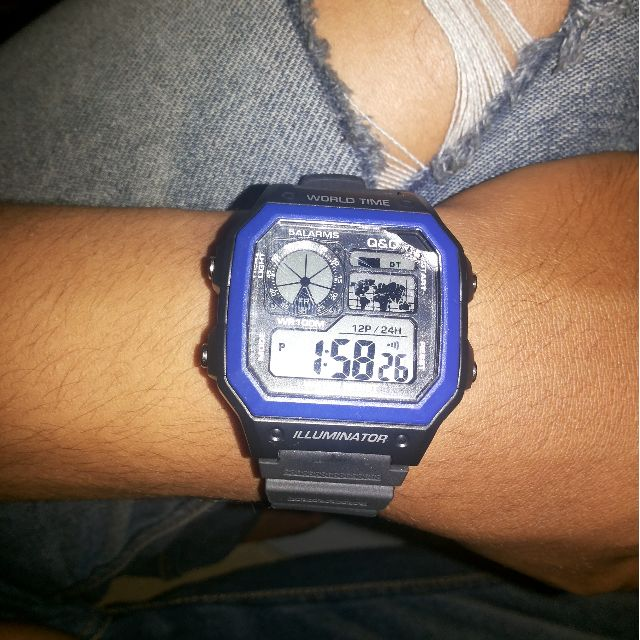 jam tangan QnQ vintage