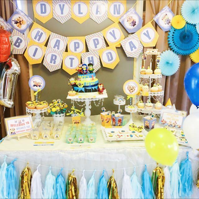 Pleasing Kid Birthday Dessert Table Babies Kids On Carousell Funny Birthday Cards Online Overcheapnameinfo