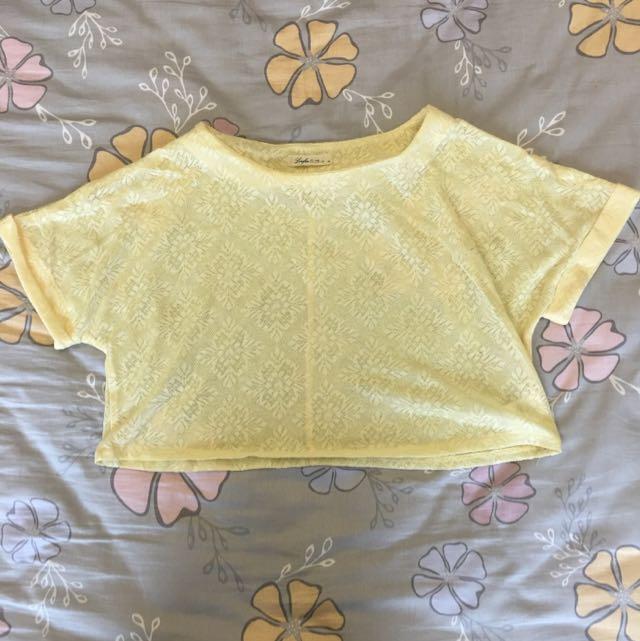 Lovfee M號 黃色短板上衣 [材質柔軟]