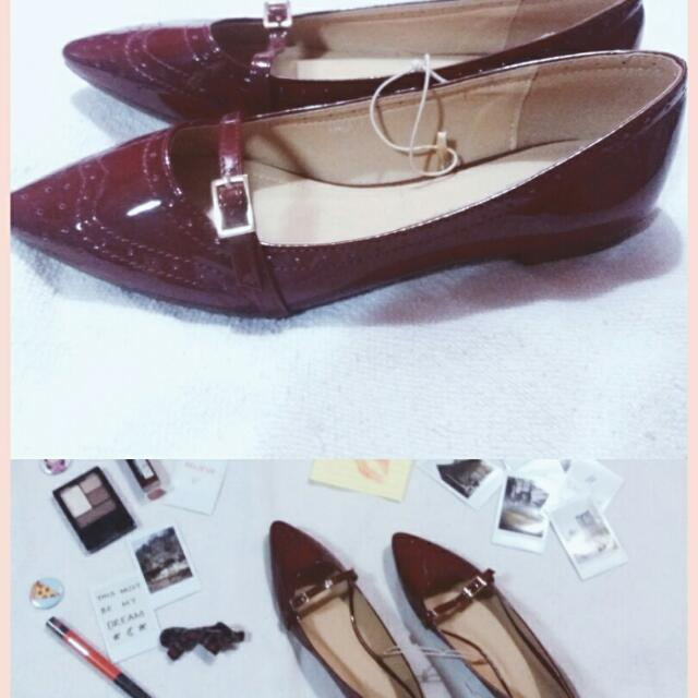 Maroon Doll Shoes