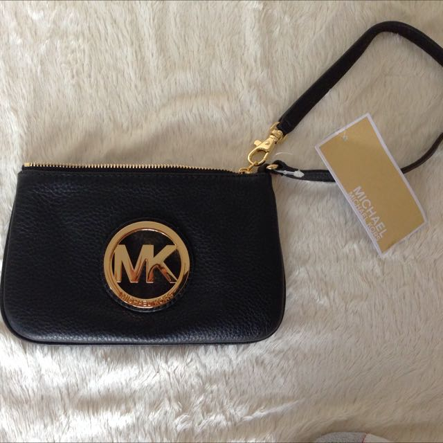 Michael Kors black leather mini purse
