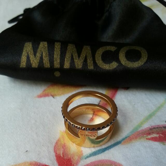 MIMCO Signature MIM GLAMOUR Gold Ring (Size S)