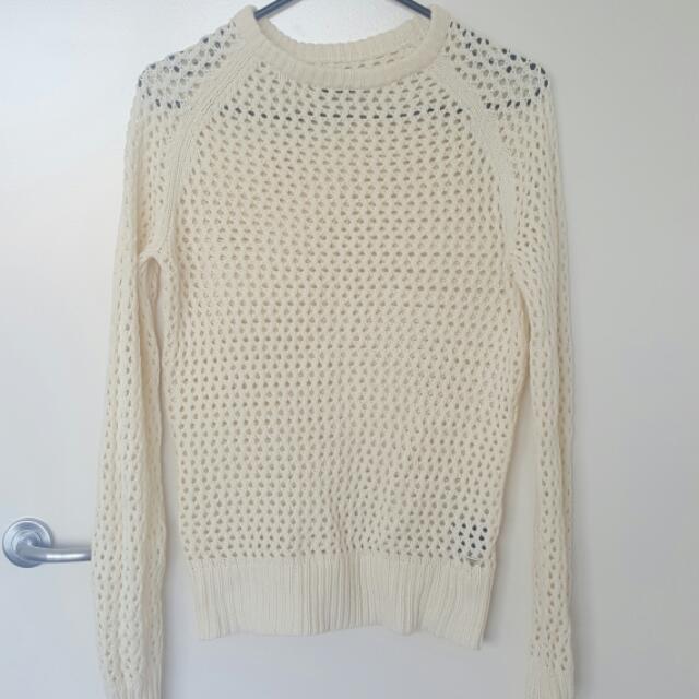 Mossimo Crochet cream jumper.