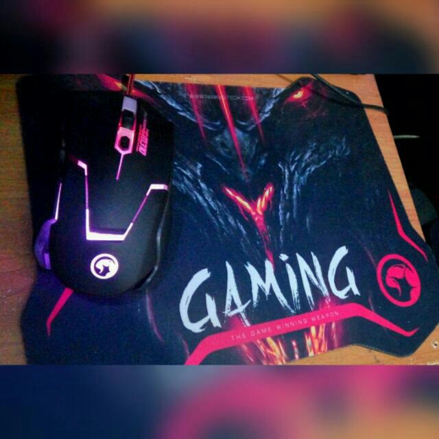 Mouse Gaming + Mouse Pad 🎮