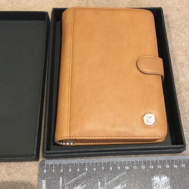 *NEW & BOXED Kikki K Tan Leather Planner/organiser
