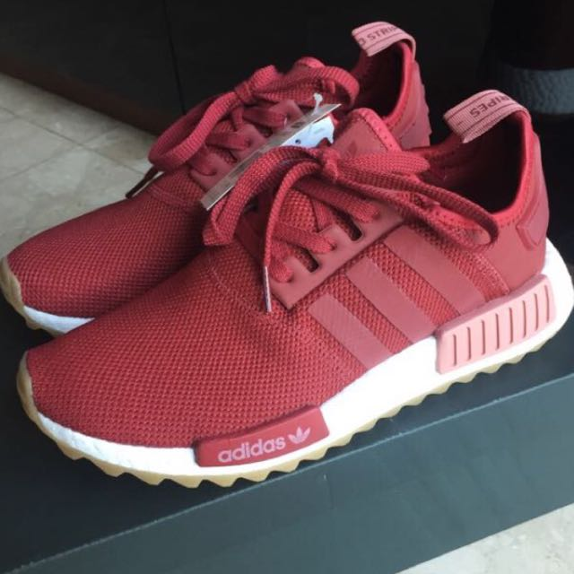 5c1a995098119 NEW  Exclusive Adidas NMD R1 Trail In Rose Red   Pitch Black ...