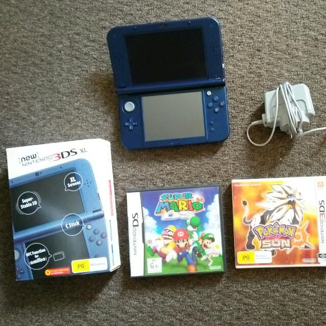 New Nintendo 3D XL + 3 Games