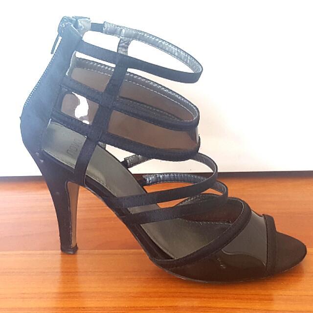 Novo heels Sandals.  Sheer straps.