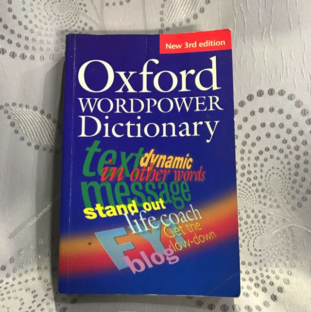 oxford wordpower dictionary  Oxford WordPower Dictionary 3rd Edition, Books & Stationery, Fiction ...