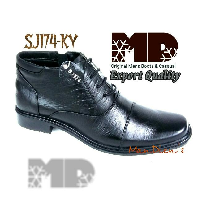 PDH SJ174-KY SEPATU BOOTS PRIA KULIT ASLI EXPORT QUALITY MADE IN MAJAPAHIT INDONESIA