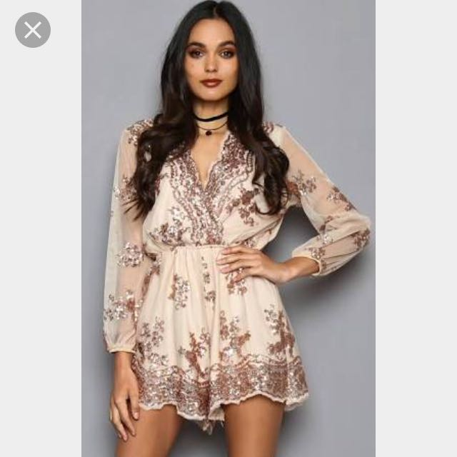 Popcherry 'She Queen' Playsuit