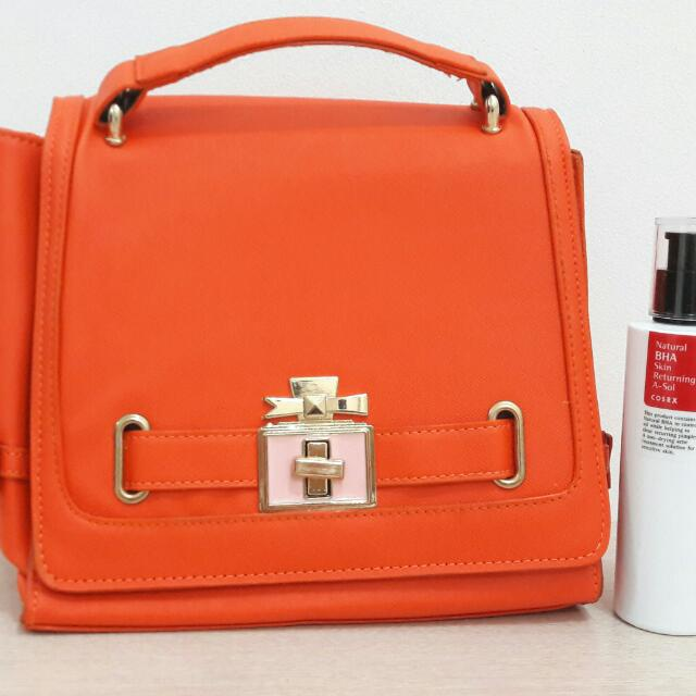 PRELOVED Chic Orange Handbag