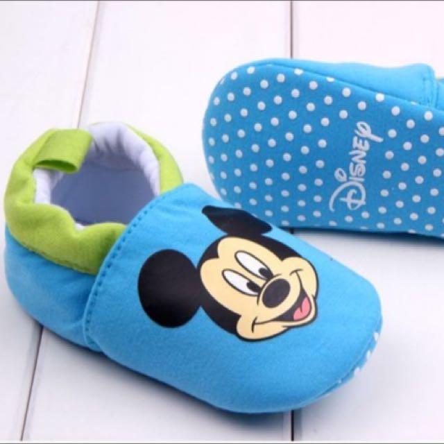 Preloved Prewalker Babyshoes Mickey Blue