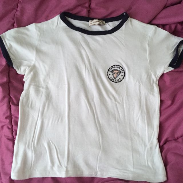 pull and bear ringer tee