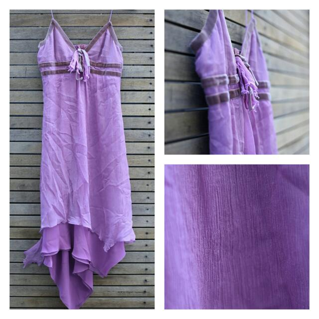 Purple Review Dress Size 6