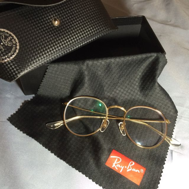 Ray Ban 3447 Round Metal Gold