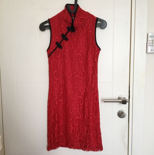 Red Lace Qipao (REPRICE)