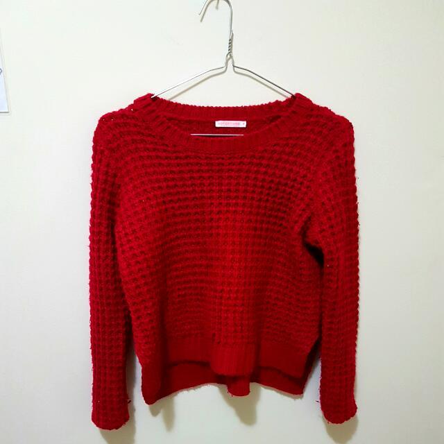 Red/ Fushia Sweater (Hot Options) Size 6-8