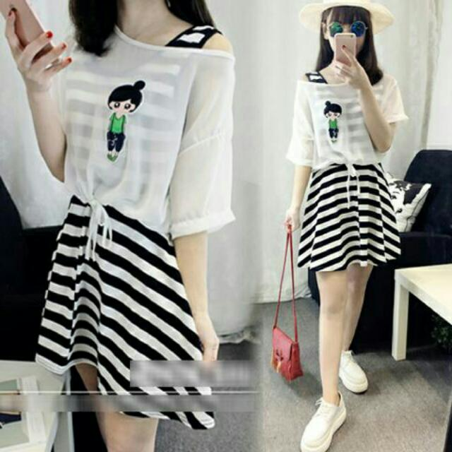 Set Stripe Dress 707