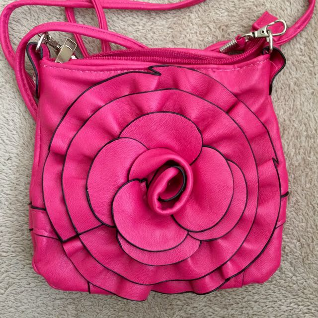 Small Pink Flower Bag