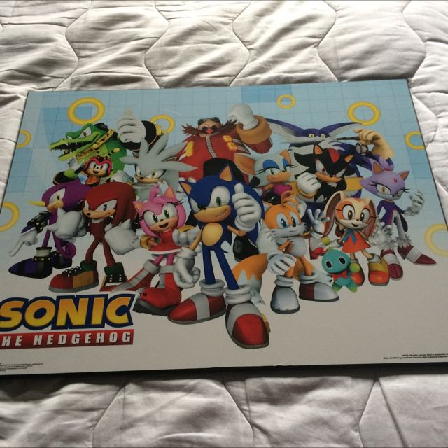sonic the hedgehog framed poster