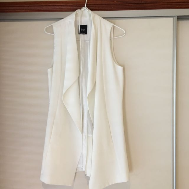 Sportsgirl Vest - Ivory Size 8