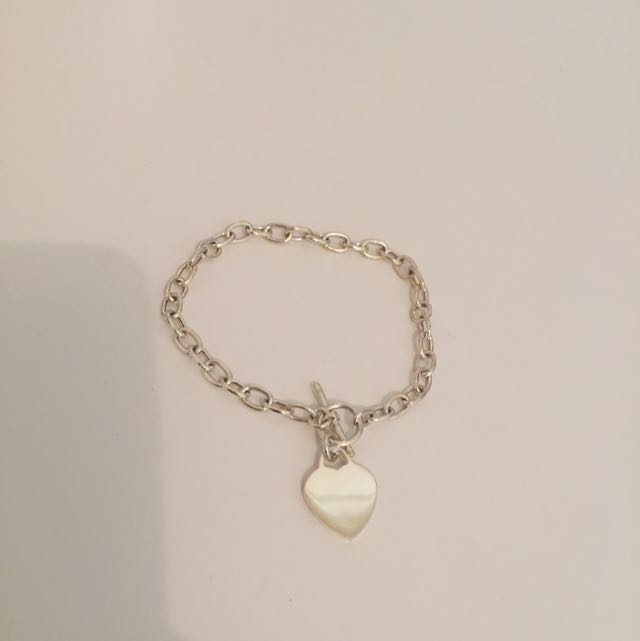 Sterling Silver Heart Bracket
