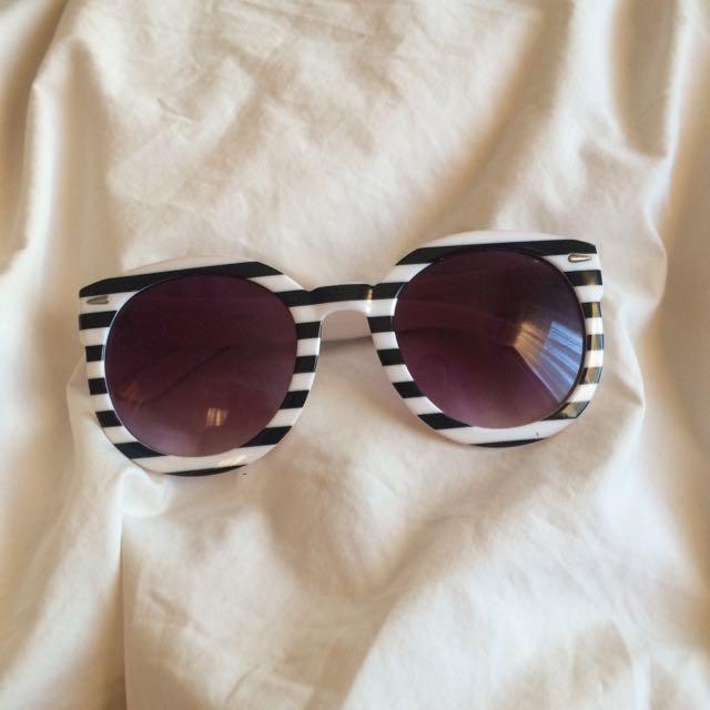 Striped Vintage Sunglasses
