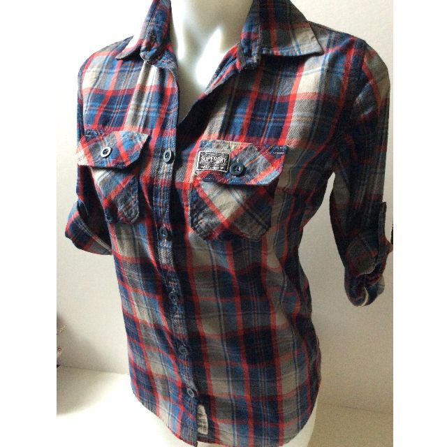 Superdry Check Shirt, Size Small