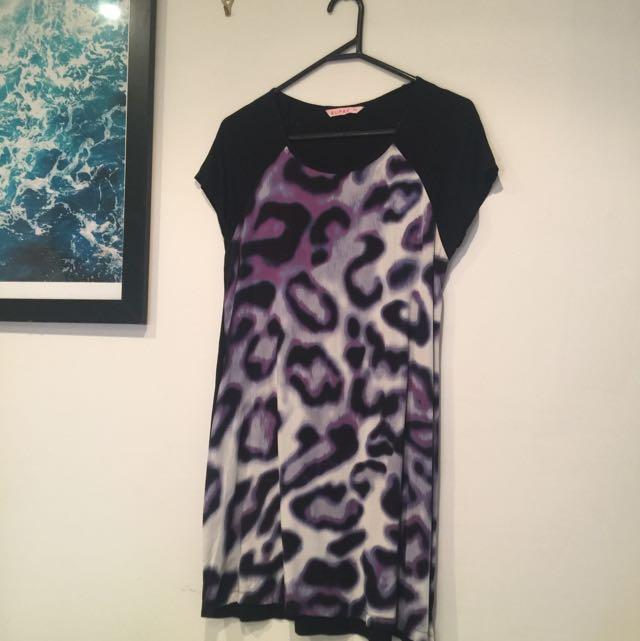Supre XS Print T-shirt Dress