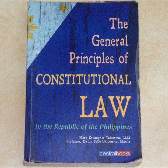 The General Principles Of Constitutional Law