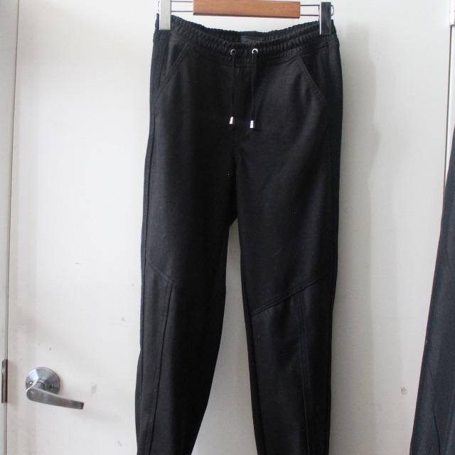 Topshop leather-look fancy sweats