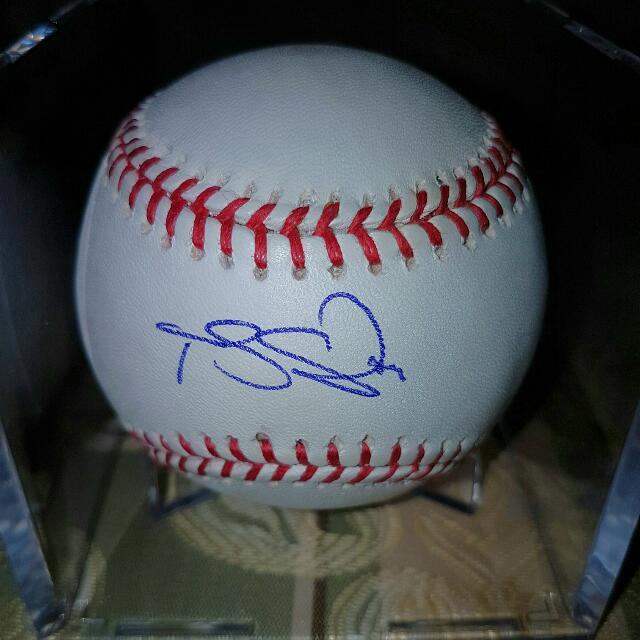 Travis Snider Signed Official MLB Baseball