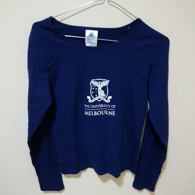 University Of Melbourne Long-Sleeved Shirt Size 8