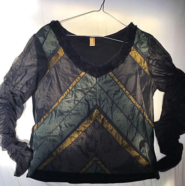 Vintage Gothic Style Blouse- Size S-M