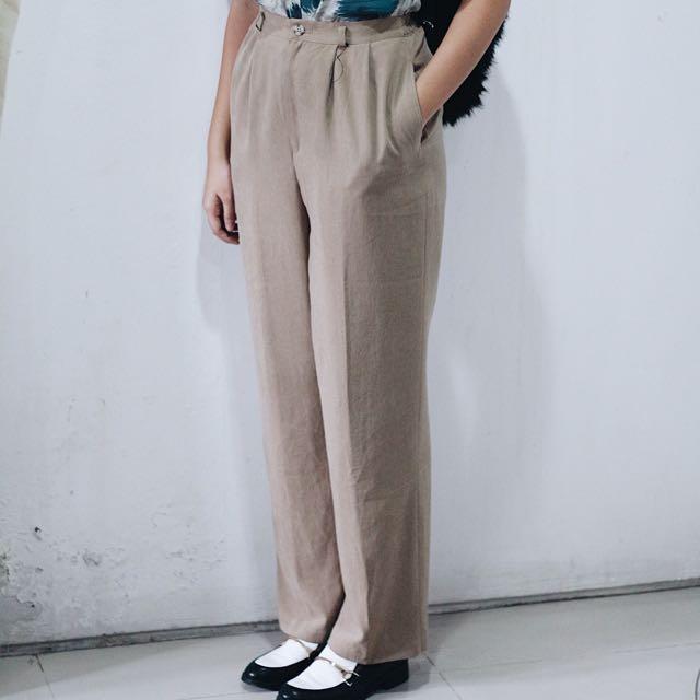 Vintage Khaki Boot Pants