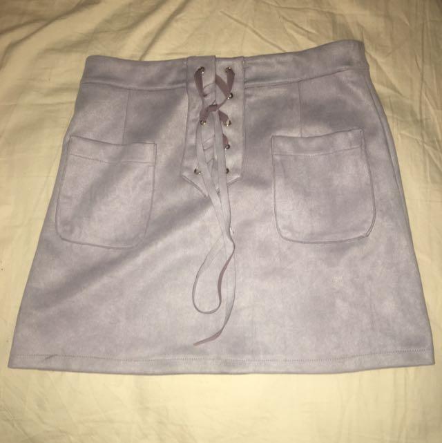 Violet Tie Up Skirt