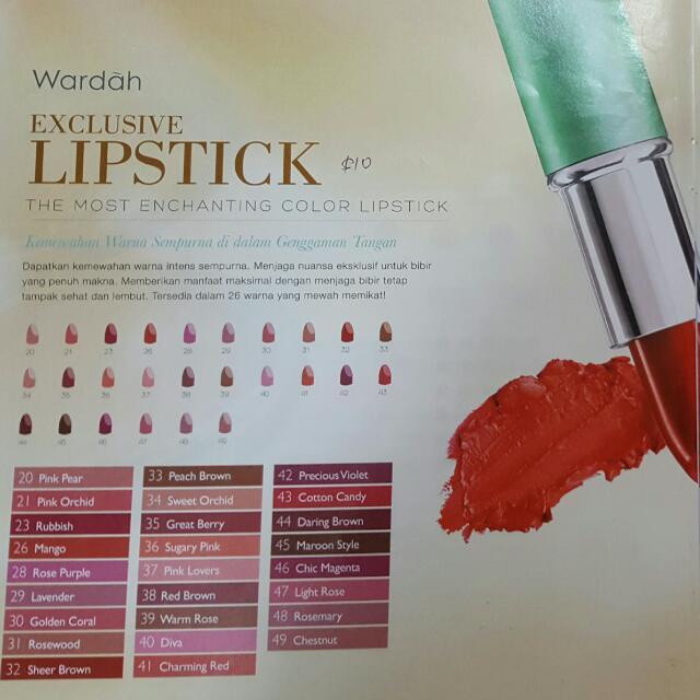 Wardah halal cosmetic Exclusive lipstick, Health & Beauty, Makeup on Carousell